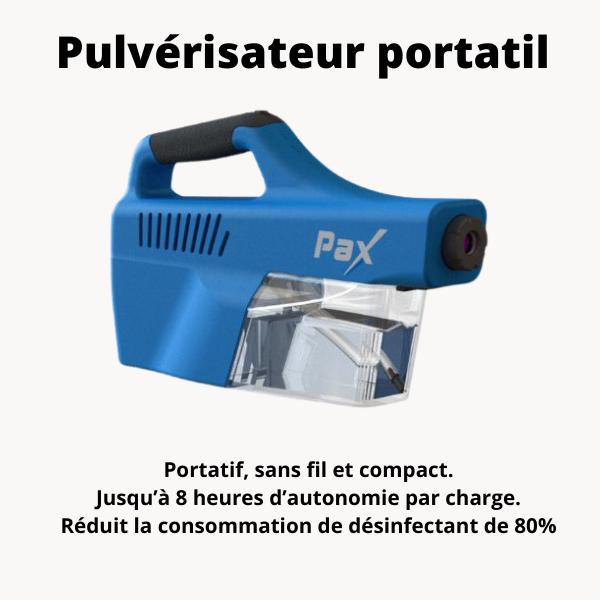 Pax-100 innovations Pulverisateur électrostatique portatif PAX-100