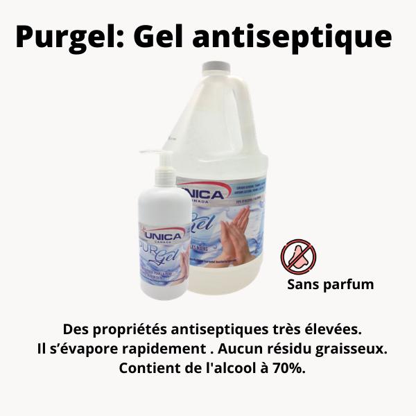 Gel antiseptique pour les mains Purgel 70% alcool