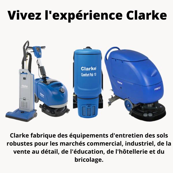 Technologie Clarke équipements d'entretien
