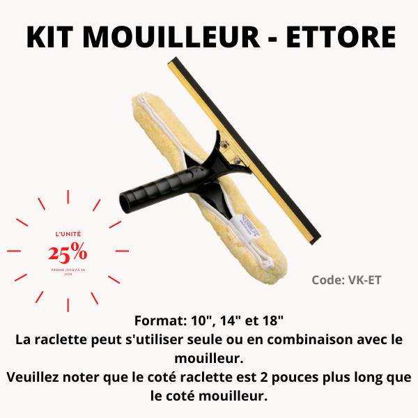 Kit mouilleur & squeegee Backflip Ettore/71141
