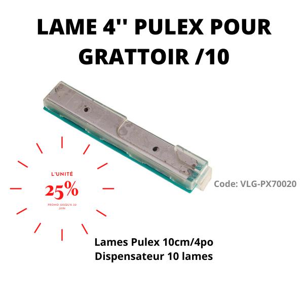 """Lame 4"""" Pulex pour grattoir - Distributions Pla-M"""