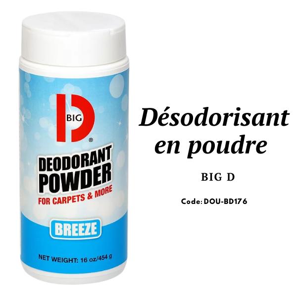 Désodorisant en poudre pour tapis Big D 15Oz