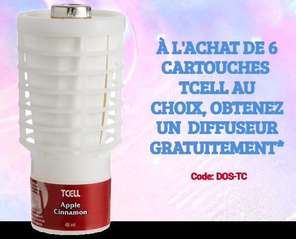 Promotion TCELL Désodorisant Apple Cinnamon Rubbermaid - Pla-M
