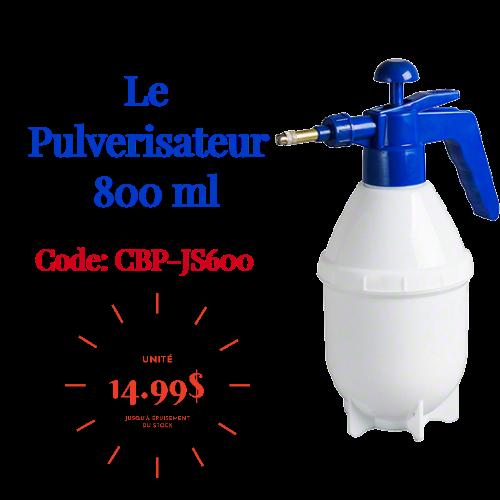 Promotion de Pulvérisateur 800 ml pression bout métal - Distributions Pla-M