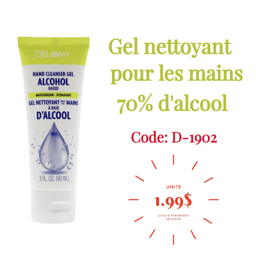 Prix Fou - Promotion gel nettoyant pour les mains 70% alcool - Distributions Pla-M