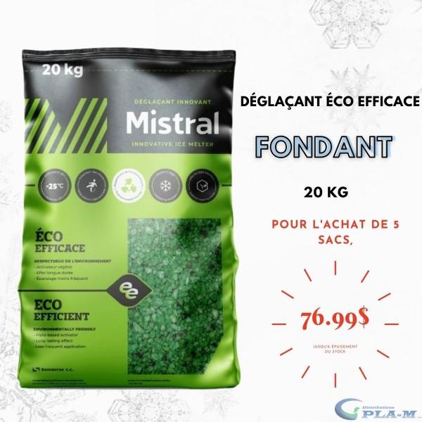 Déglaçant éco efficace 20 KG Mistral jusqu'à -25C. Distributions Pla-M