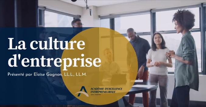 Événement La force de la culture d'entreprise le 8 avril 2021