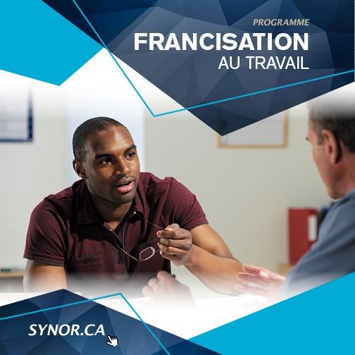 Information : 450 771-9260 ou www.synor.ca