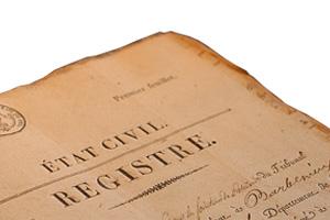 Actes de l'état civil, registre